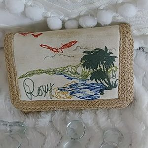 EUC Roxy embroidered wallet